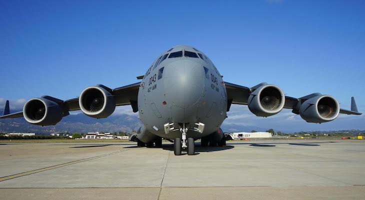 Military Plane Landed at Santa Barbara Airport title=
