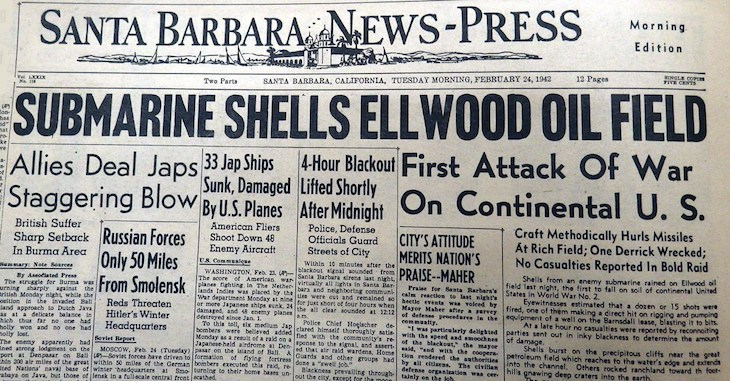 Ellwood Beach Attacked During WWII 79 years ago title=