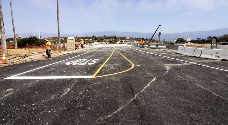 NEW GOLETA BEACH PARK BRIDGE OPENS TO TRAFFIC