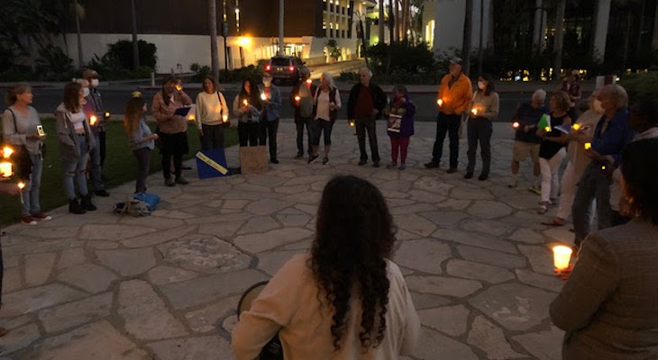 Good Trouble Candlelight Vigil for Democracy title=