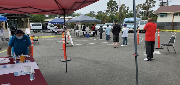 Over 100 Vaccines Distributed at Goleta's Sunday Walk-Up Clinic title=