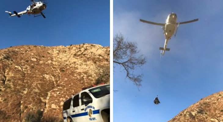 Injured Hiker Helicoptered to Hospital title=
