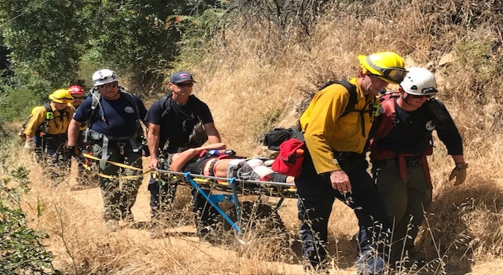 Injured Hiker Rescued off Cold Springs Trail title=