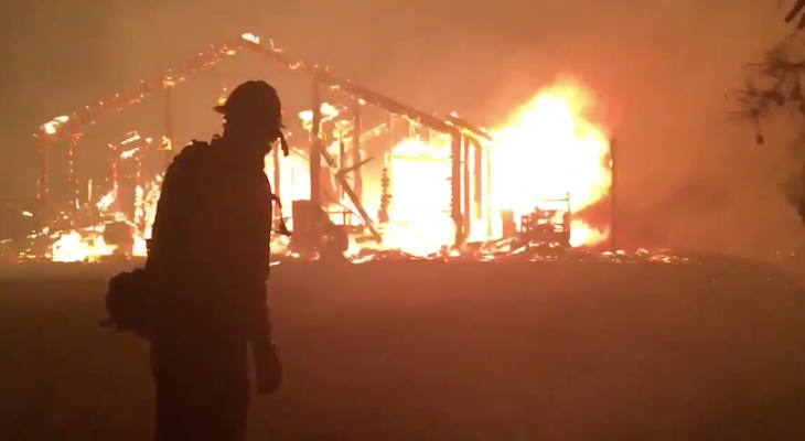 10 Homes Destroyed in Holiday Fire