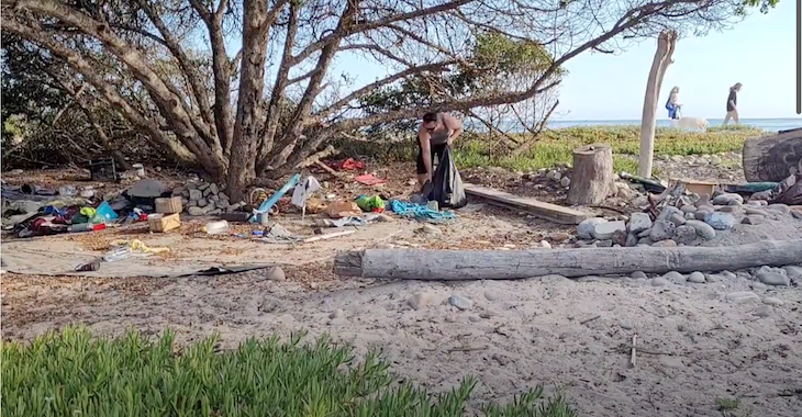 Abandoned Homeless Camp Removed From Haskell's Beach