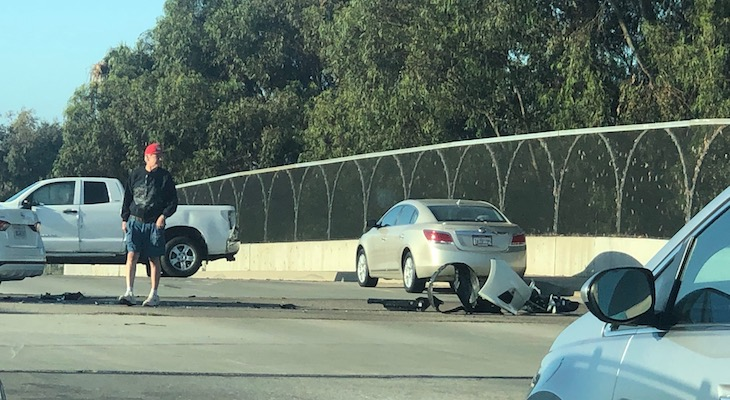 Traffic Collision on Fairview Overpass