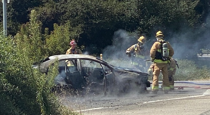 Car Fire on El Sueno title=