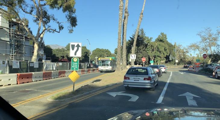 Broken Down MTD Bus in Montecito