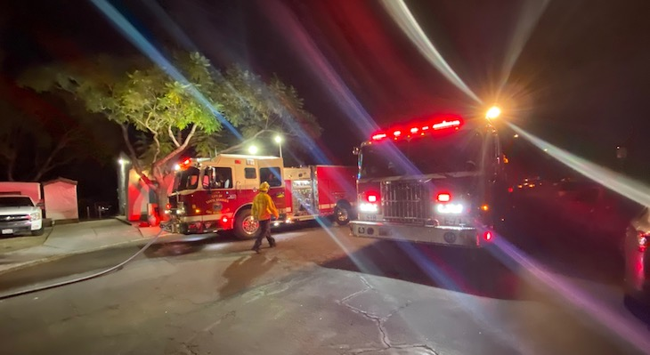 Third Brush Fire near Hwy 101 at Carrillo title=