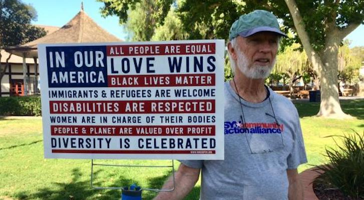 Families Belong Together March in Solvang title=