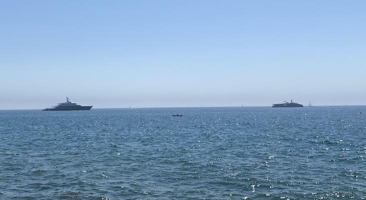 Large Yachts Off Santa Barbara Coast