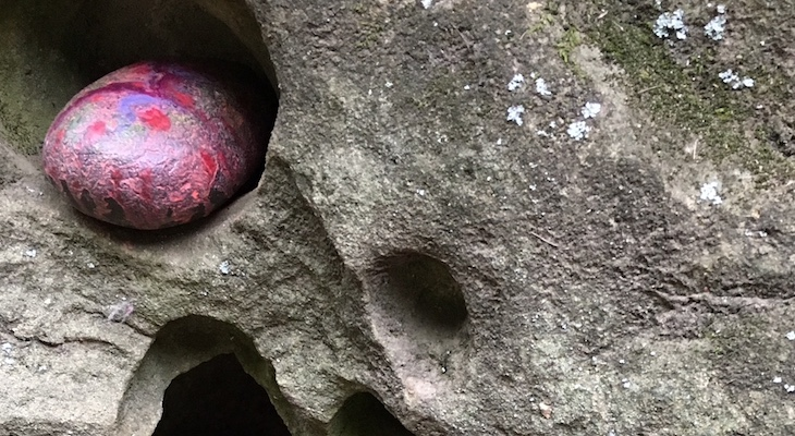 Painted Rocks on Rattlesnake Trail title=