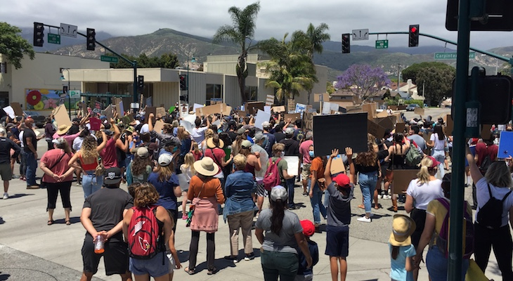 Black Lives Matter Protest in Carpinteria