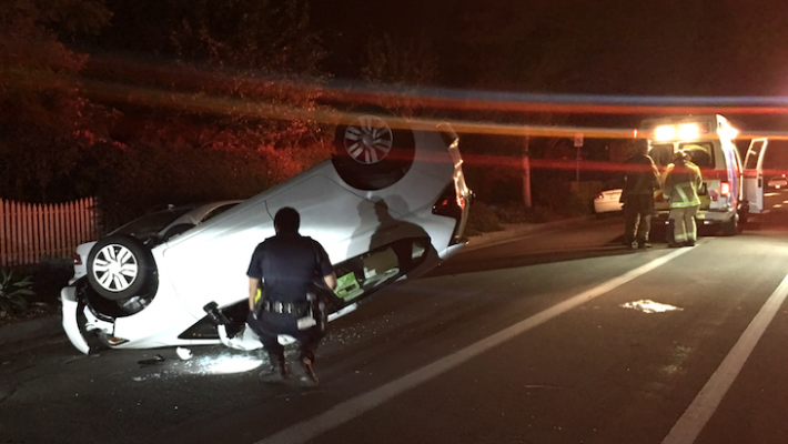 DUI Suspected in Rollover Accident