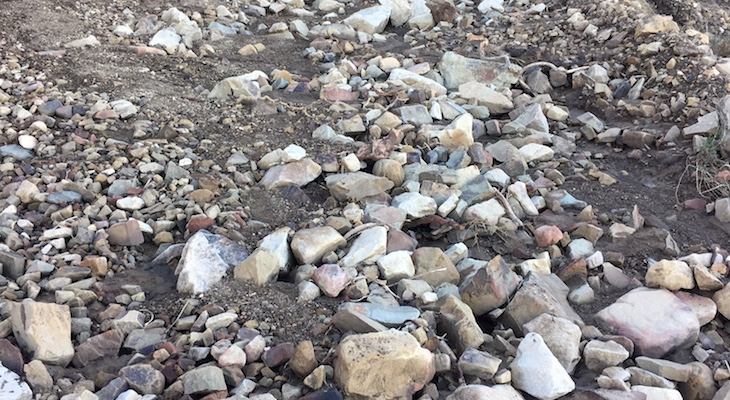 Rocks on Montecito Trails