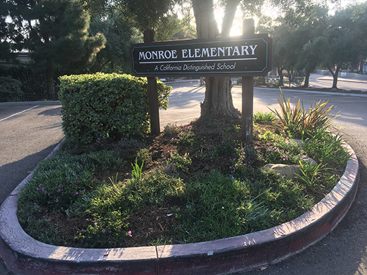 Monroe Elementary Beautification Day and United Way Day of Caring