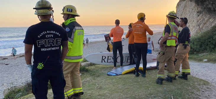 Ocean Rescue Off Hendry's Beach title=