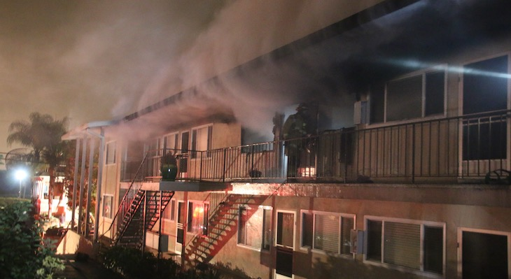 Downtown Apartment Fire Displaces Residents