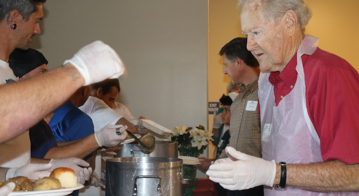 Christmas Feast With Love At Santa Barbara Rescue Mission title=