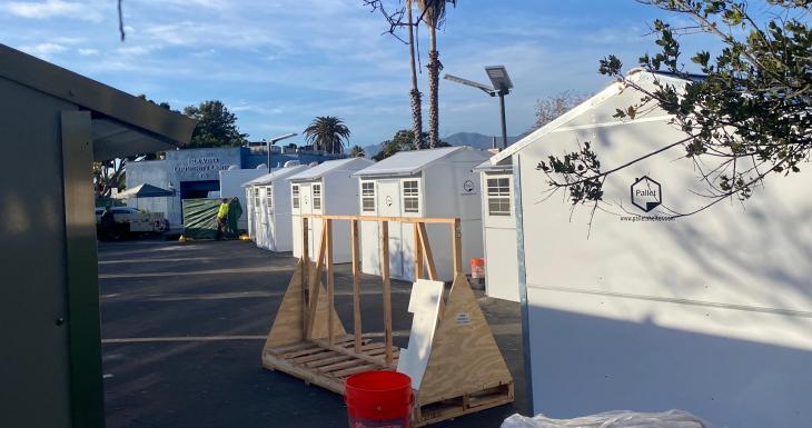 Tiny Homes Arrive for Isla Vista Homeless Community title=