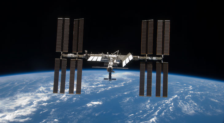 ISS Cruising Above During the Holiday title=