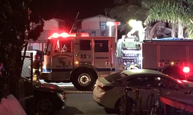 Del Playa Apartment Fire in Isla Vista
