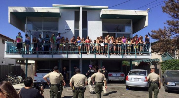 A large party in Isla Vista (Photo: Santa Barbara County Sheriff's Office)