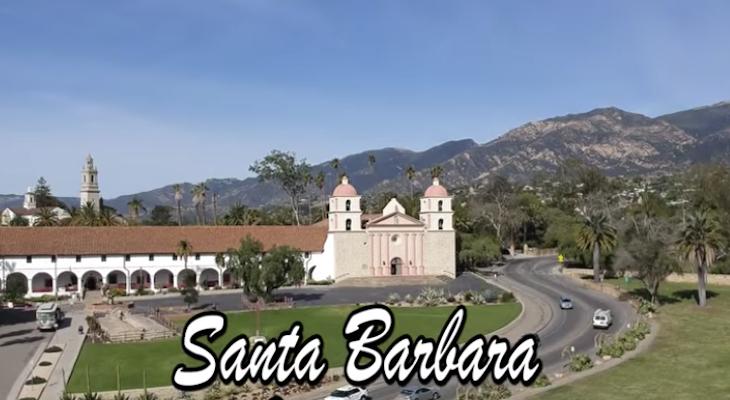 Santa Barbara Landmarks by Drone title=