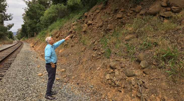 Major Prehistoric Debris Flow is Found on Montecito Creek