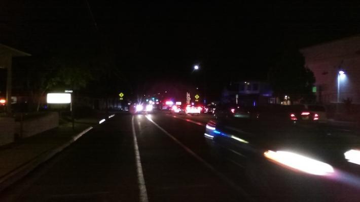 Vehicle Hits Pedestrian on De La Vina