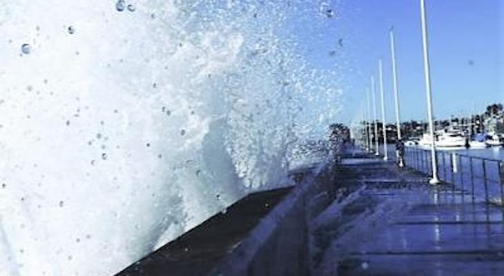 King Tide at the Breakwater title=