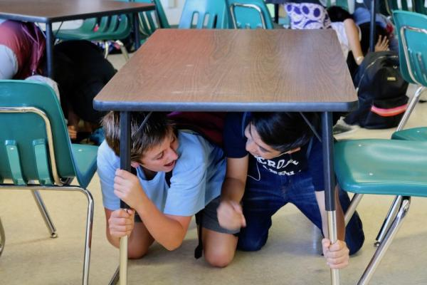Local Schools Participate in Nationwide Earthquake Drill