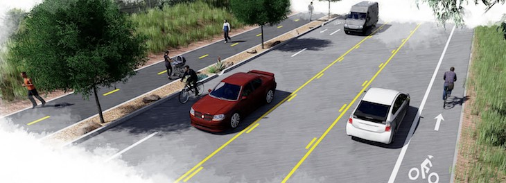 Construction Begins on Modoc Bicycle & Pedestrian Path Project title=