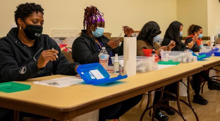Nurses working at a community COVID-19 clinic (courtesy photo)