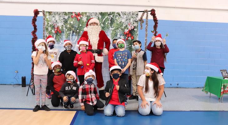 Santa Visits Boys and Girls Clubs