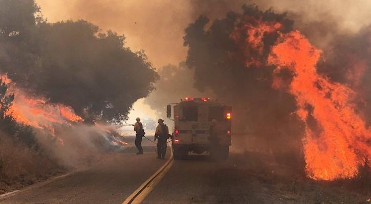 Vegetation fire ignites on Foxen Canyon Road