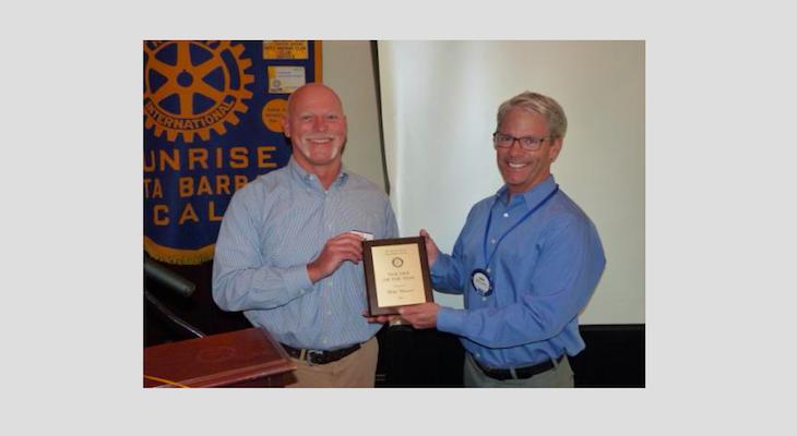 Santa Barbara Sunrise Rotary Honors La Cuesta Teacher of the Year Award to Mike Mowers title=