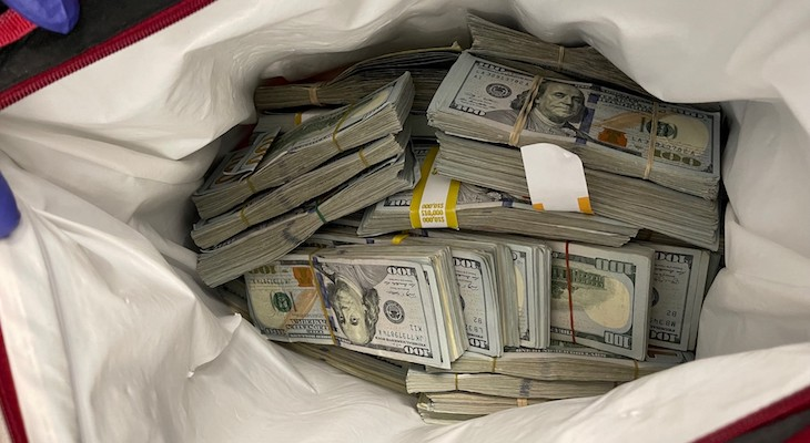 Hundreds of Thousands in Cash Booked During Grand Theft Arrest title=