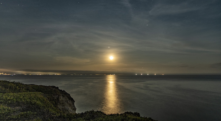 Moon Rise Over the Santa Barbara Channel