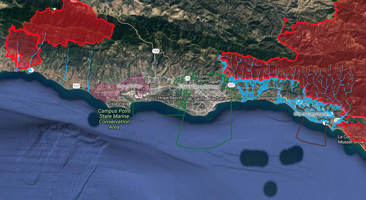 Map Released of Flood and Debris Flow Areas title=