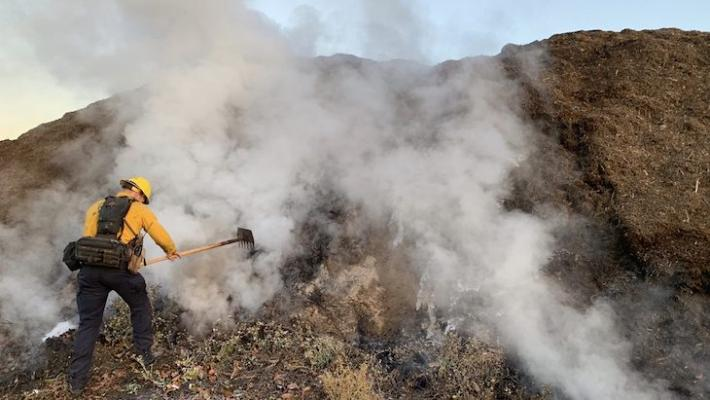 Mulch Fire in Goleta