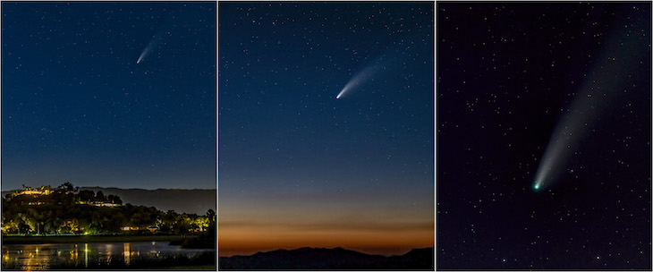 Neowise Triptych title=