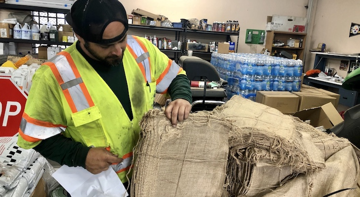 New Burlap Sandbags Available at Goleta Locations