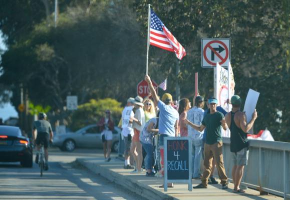 Recall Newsom Rally in Montecito