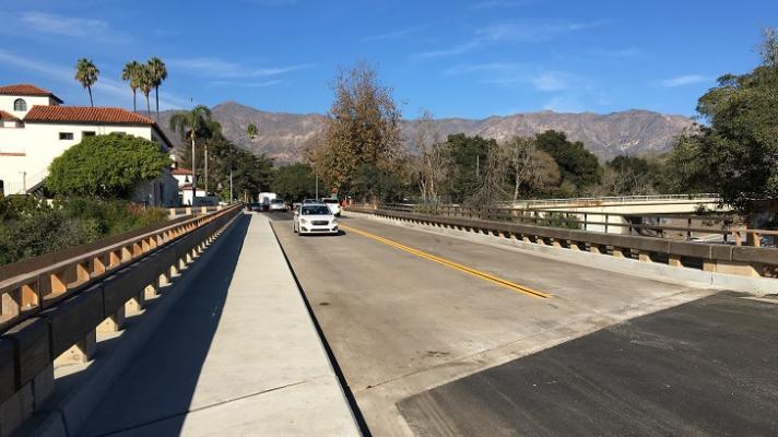 Caltrans Completes Olive Mill Bridge Rail Project In Montecito title=