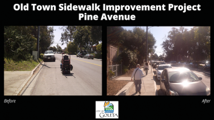 Goleta's Old Town Sidewalk Improvement Project Now Complete title=