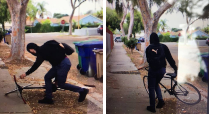 Package Thief Spotted off Hollister title=