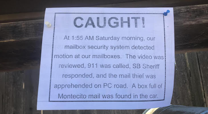 Painted Cave Resident Shares Update on Mail Theft
