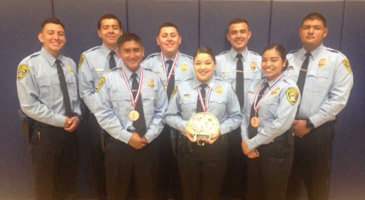 Police Explorers win 3rd Place at Central Valley Explorer Competition