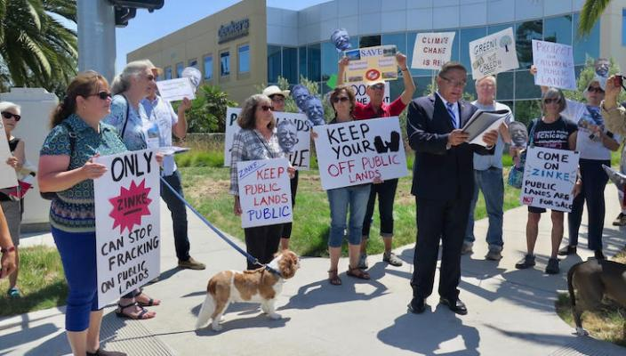 Protestors Gather in Goleta to Protect Public Lands title=